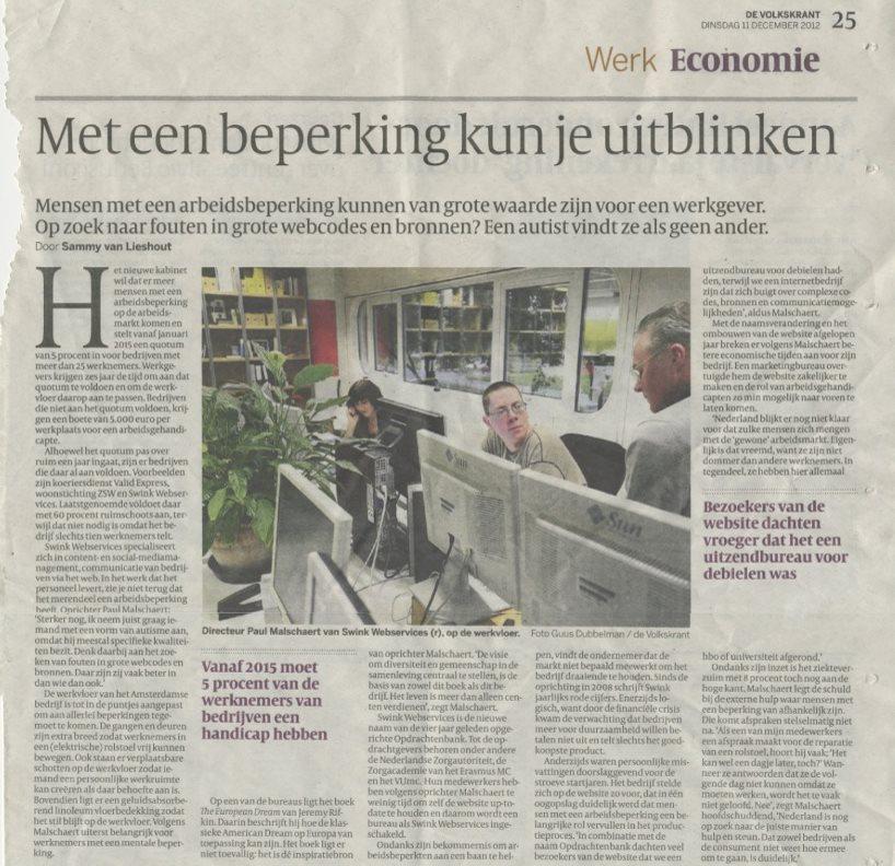 Volkskrant Niels en Vincent