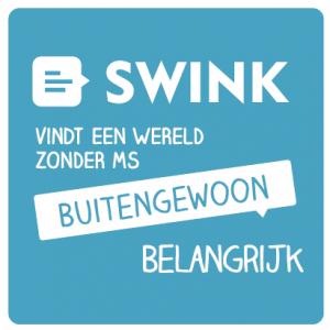 Swink vind een wereld zonder MS buitengewoon belangrijk