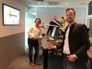 Niels van Buren bij BNR nieuwsradio op bezoek