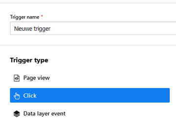 Een trigger in Piwik Pro Tag Manager